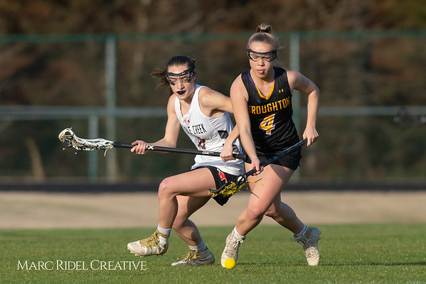 Broughton Lady Caps lacrosse at Middle Creek. February 26, 2019. D4S_1656
