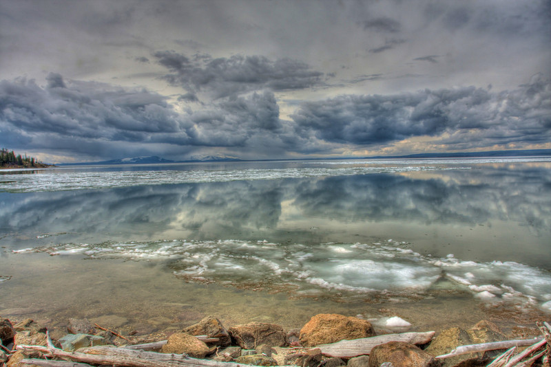 Dramatic Clouds over Yellowstone Lake