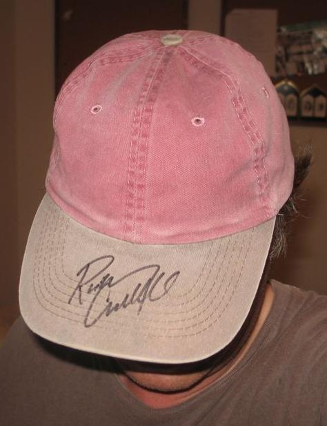 I'm not a responsible fan and I forgot to bring a CD to get autographed. Rodney was kind enough to sign my cap.