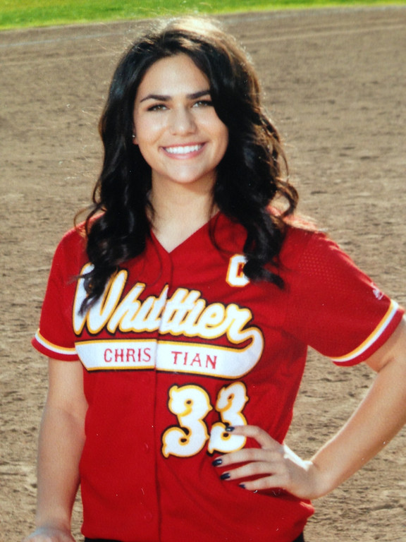 . Celeste Adriano, Whittier Christian for Softball all area for Whittier (HAND IN 6-10-14)
