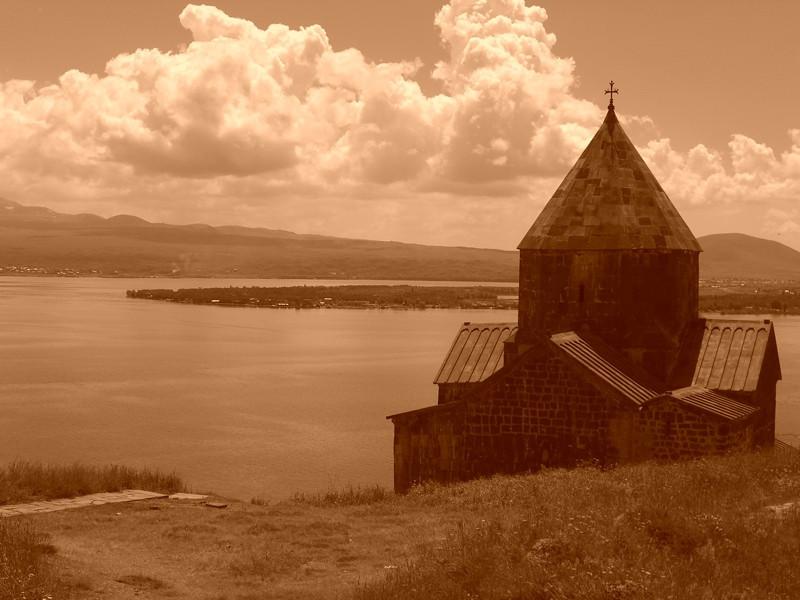 Astvatsatsin Church on Lake Sevan, Armenia