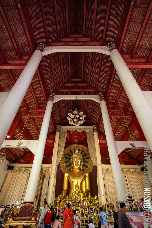 Inside of Chiang Mai temple.