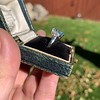 1.73ctw Blue Marquise Cut Diamond Trilogy Ring 25