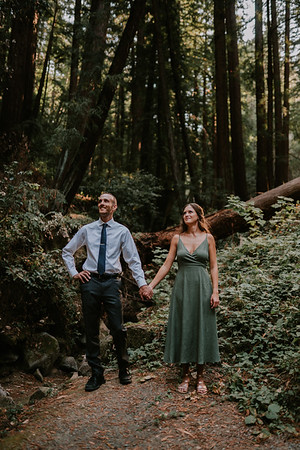 Karleen + Michael's Engagement in the Redwoods