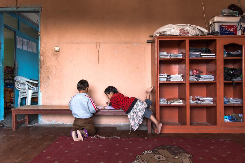 In het NWCSS weeshuis, een van de tehuizen dat door 4 Smiling Faces wordt ondersteund