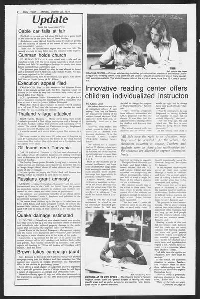 Daily Trojan, Vol. 87, No. 26, October 22, 1979