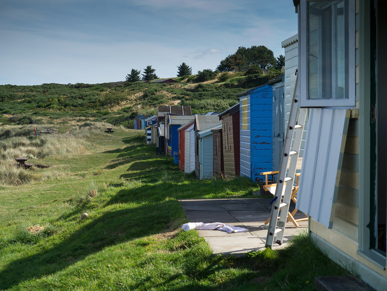 Beach huts at Hopeman.
