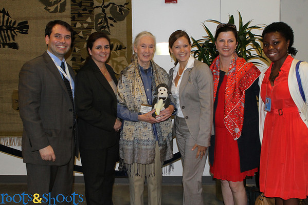Dr. Goodall at the United Nations International  Day of Peace 2012