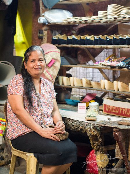 Maruth Peñaflor, has been in the shoemaking business for over 20 years in Liliw and has some crazy design ideas.