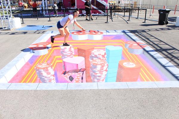 prints 3D chalk - iheartradio music festival