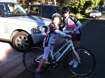 Katherine & Mary's First Big Ride
