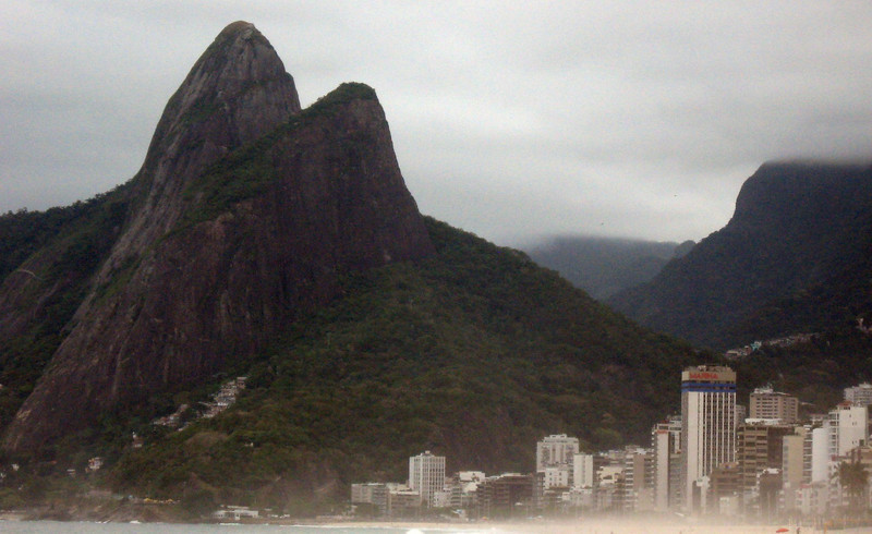 And on to Sugar Loaf--a view of the Two Brothers here with Ipanema in the foreground.
