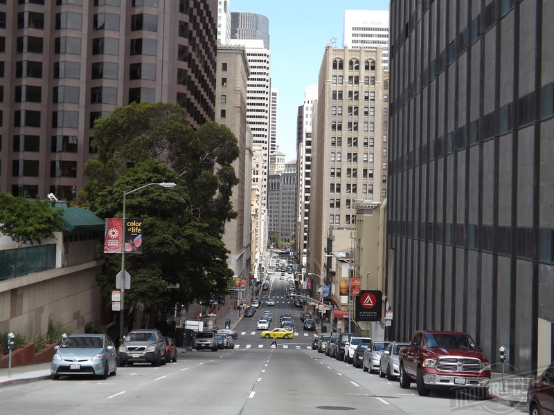 Looking east down Pine from Grant.
