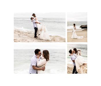 Honeymoon Wedding Dress Beach Photography at Windansea Beach La Jolla
