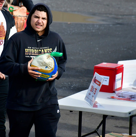 11/17/2018 Mike Orazzi | Staff Rufino Santiago during a FoodShare turkey drive at the Costco in NEw Britain Saturday morning.