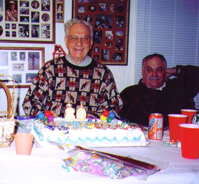 Wayne's 80th Birthday, Wayne & Mike.jpg