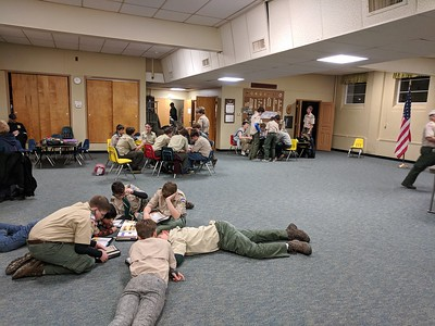 Troop 98 December 1-2, 2017  First Aid Jeapardy & Open House