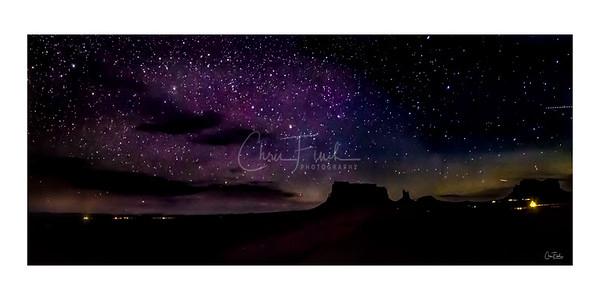 Monument Valley Night Sky