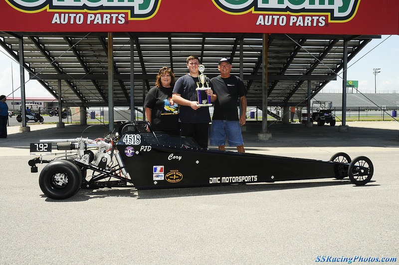 R-Up Advanced Jr. Dragster: Cory Tankersley, Conroe TX.