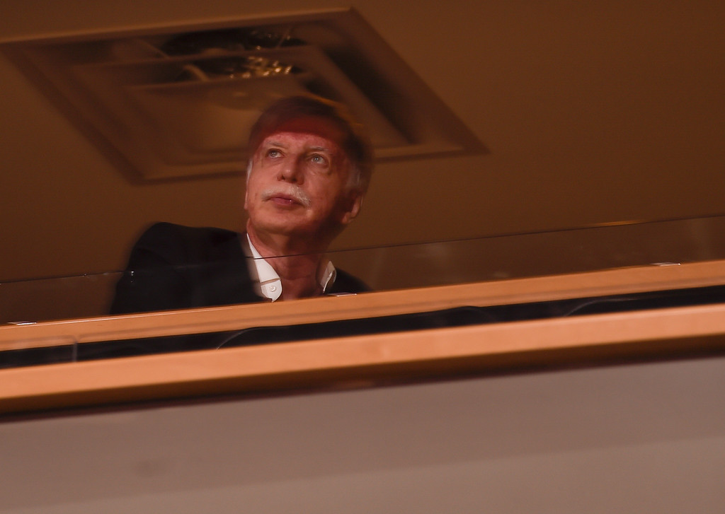 . DENVER, CO - FEBRUARY 29: Stan Kroenke looks on as the Denver Nuggets take on the Memphis Grizzlies February 29, 2016 at Pepsi Center. (Photo By John Leyba/The Denver Post)