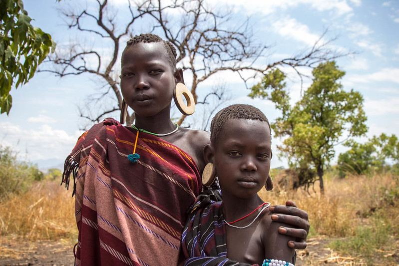 Kids of the Mursi - Ethiopian tribes