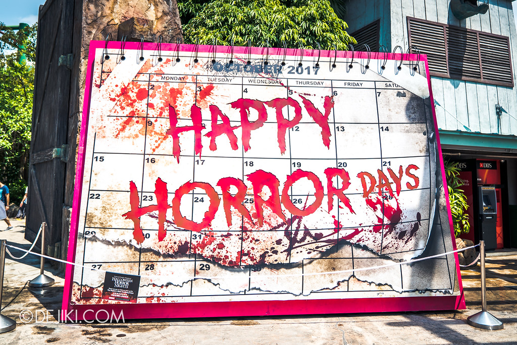 Halloween Horror Nights 7 Before Dark 2 Preview Update / Happy Horror Days Entrance