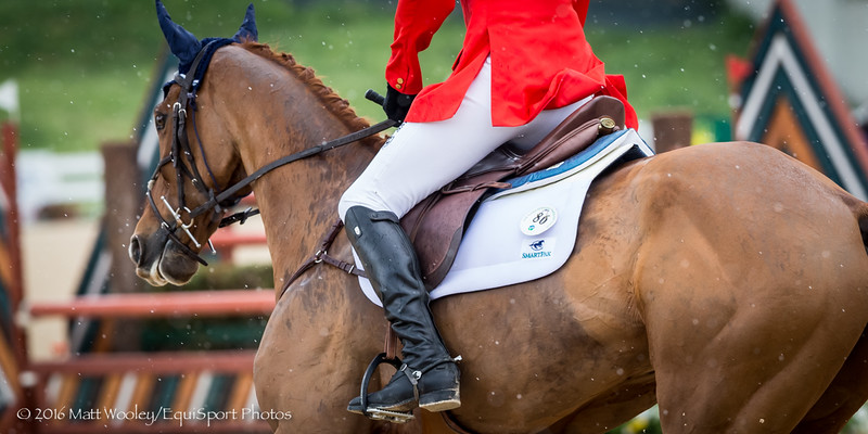 Boyd Martin and Blackfoot Mystery in the Stadium Jumping portion of the Rolex 3-Day Event at the Ky. Horse Park 5.01.16.