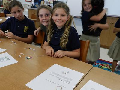 Making Girl Scout Bracelets