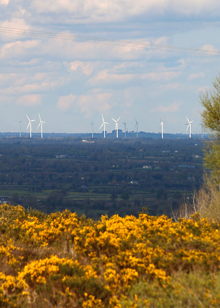 Mount Lucas Wind Turbines viewed from Slieve Bloom  Picture© Niall O'Mara 30th April 2018 - niallomara@me.com