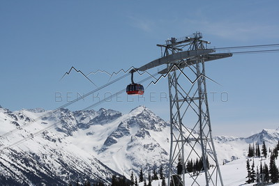 Tram at Whistler Blackcomb Resort, British Columbia, Canada