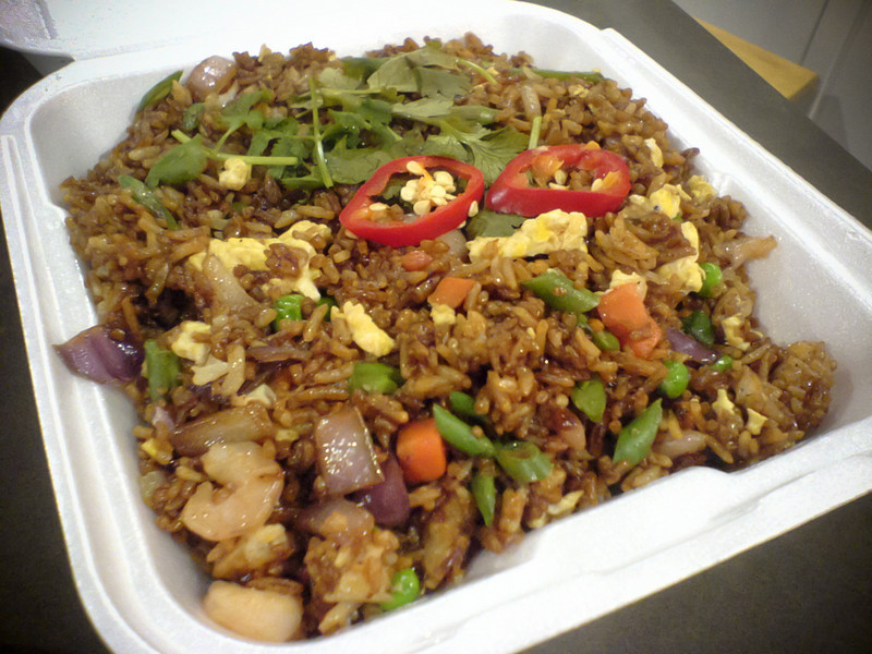 Neither of us care much for their Singapore Fried Rice.  Valerie describes it best: amateurish and salty