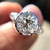 2.23ct Old European Cut Diamond Edwardian Solitaire GIA I VS1 8