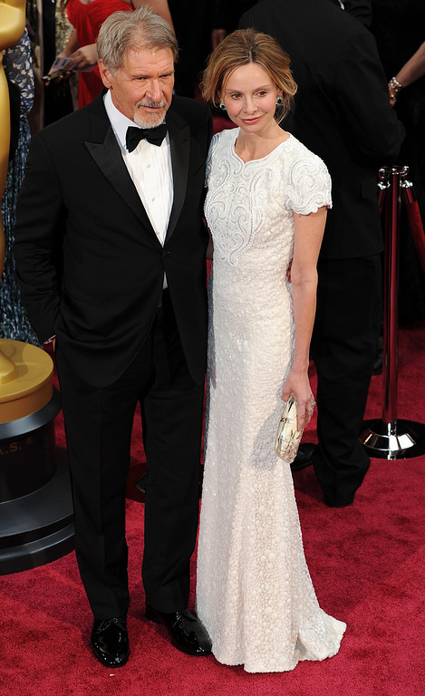. Harrison Ford and Calista Flockhart attend the 86th Academy Awards at the Dolby Theatre in Hollywood, California on Sunday March 2, 2014 (Photo by John McCoy / Los Angeles Daily News)
