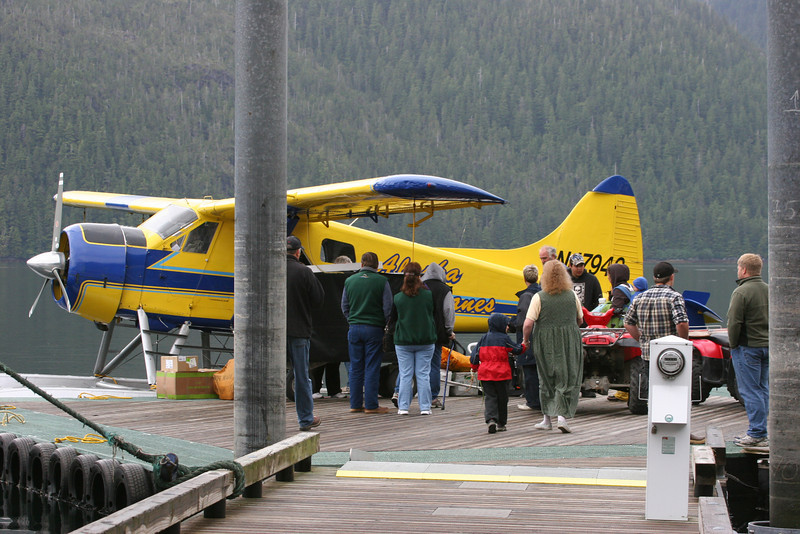 the Mail Plane in Pelican -  it comes once a week