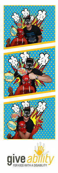 GiveAbility Day Superhero Photobooth Prints