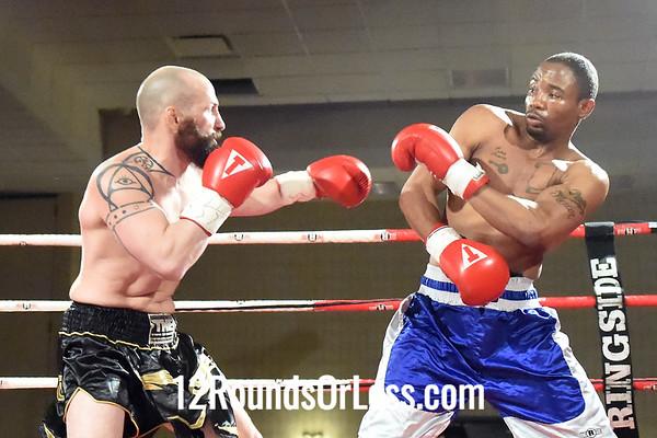 Bout 3 Luke Spencer, Irondale, OH, Black & Gold Trunks -vs- Henry Mercer, Taboro, NC, White & Blue Trunks, Jr. Middleweights