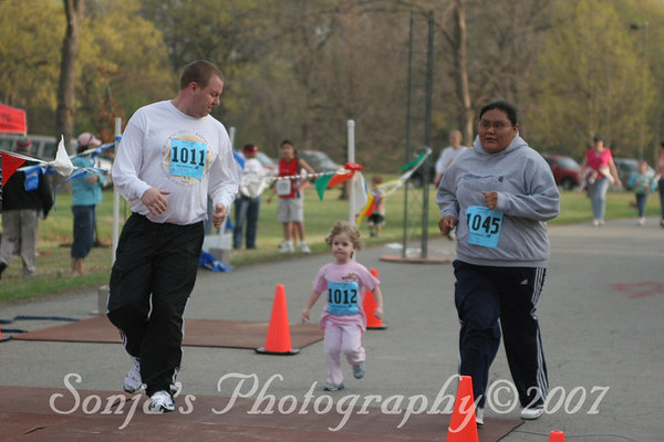 Before, Start, Fun Run Finish...