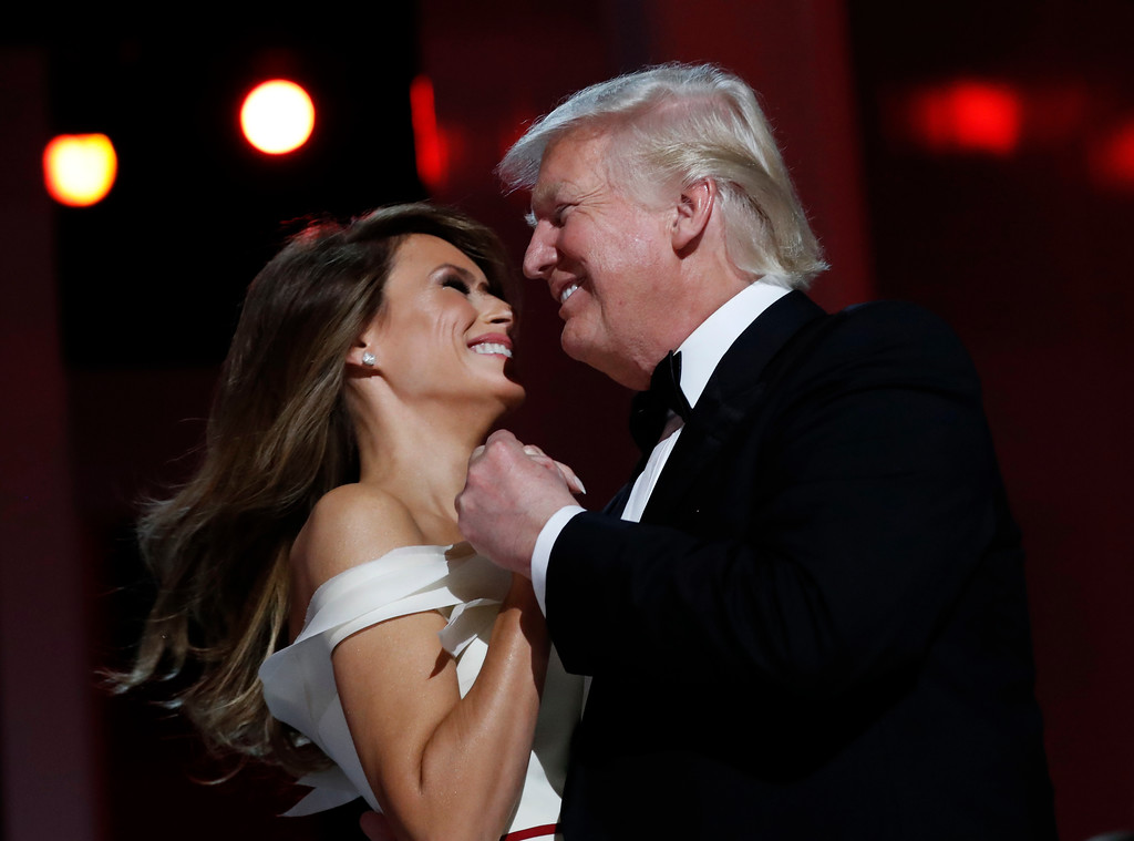 . President Donald Trump dances with first lady Melania Trump at the Liberty Ball, Friday, Jan. 20, 2017, in Washington. (AP Photo/Alex Brandon)