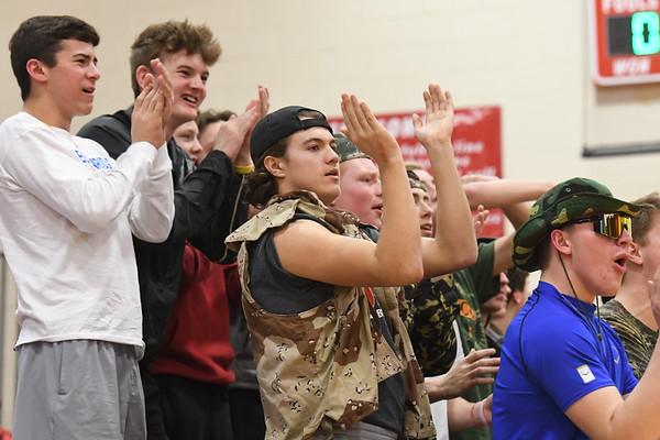 Student Crowd - Bennington EMC Basketball game