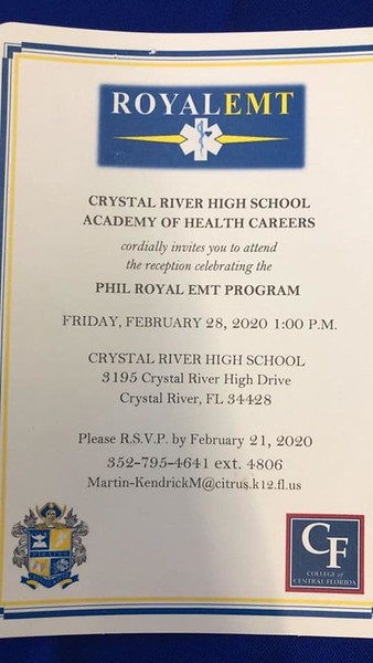 CRHS Phil Royal EMT Program