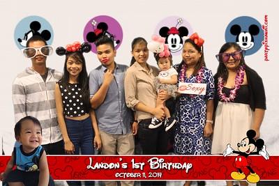 Landon T 1st Birthday (Green Screen Party Portraits)