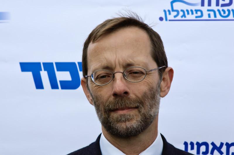 Moshe Feiglin at Likud primaries, January 31, 2012, Jerusalem