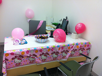 2012 How my team decorated my office for my bday