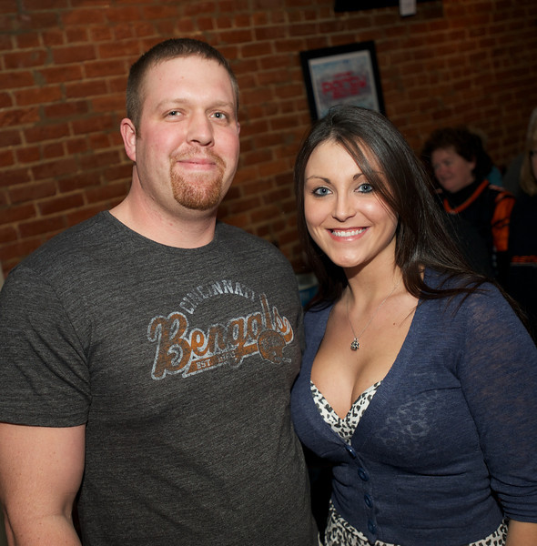 Chris Hollar and Penny Keenan of NKY at Jerzees for the Bengals game Saturday