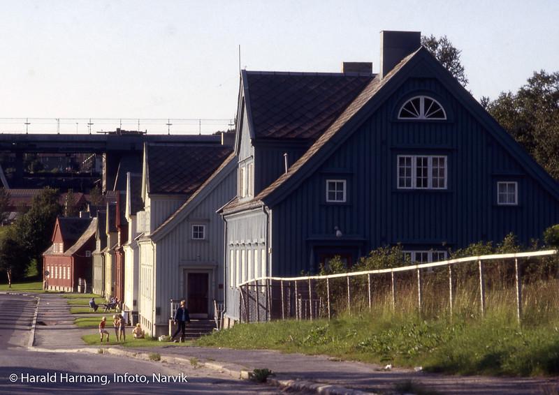 Tidligere boliger for funksjonærer på LKAB. Etter reglene skulle alle husene være malt i ulike farger. Den regelen er brutt nå.