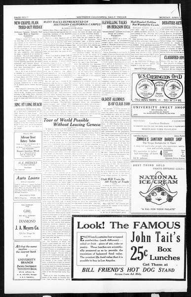 Daily Trojan, Vol. 16, No. 92, April 27, 1925