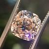 4.03ct Light Fancy Brown Antique Cushion Cut Diamond Halo Ring GIA LFB, SI1 16