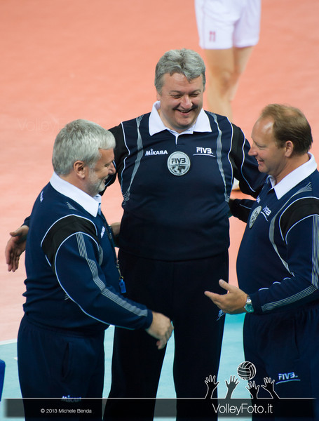 FIVB International Referee Stahl (Usa) - Santi (Ita) - Hodon (Svk) - Italia-Iran, World League 2013 - Modena