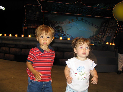 Sept. 27-28, 2003 photos  (Hailey goes to Sesame Street Live with Philip. Then on Sunday she sees Ted and Deanna, who had a big surprise...)
