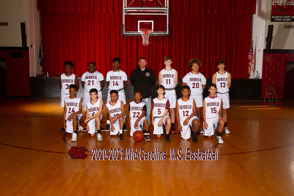 2020-2021 Boys  MS Basketball